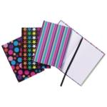 A6 Fashion Casebound Notebook Astd Pk10