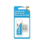 Eraser And Metal 2 Hole Sharpener Pk12