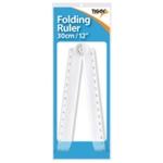 30Cm Folding RulerProtractor Pk25