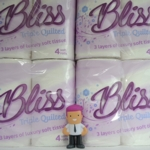 3 Ply Bliss PREMIUM White Toilet Rolls 240 sheet