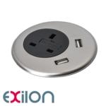 Exilon In-Desk Power + Silver