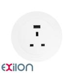 Exilon In-Desk Power White