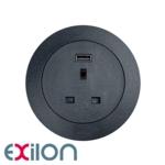 Exilon In-Desk Power, Black
