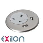 Exilon In-Desk Power +, Silver