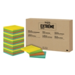 Post-it Extreme 76x76mm Assorted Pk24