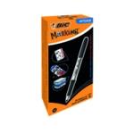 Bic Permanent Marker Fine Black Pk12