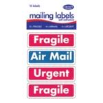 County Mailing Label Frgl/Air Mail Pk12