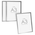 Durable Duraframe A3 Silver 3 for 2