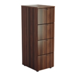 FF Jemini Walnut 4 Drawer File Cabinet