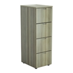 FF Jemini Grey Oak 4 Drawer File Cabinet