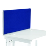 FF Jemini Blue 1800mm Wave Desk Screen