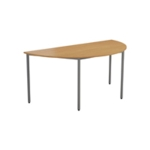 FF Jemini Semi Circ Table W1600 Oak