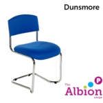 Dunsmore Chrome Cantilever Visitor and Conference Chair