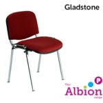 Gladstone Classroom Chair C/W chrome frame(Fabric seat/Back)