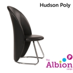 Hudson Tub Shaped Cantilever Chair in black vinyl
