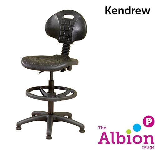 Kendrew Industrial Draughtsman Chair Easy-clean Polyurethane