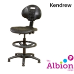 Kendrew Industrial Draughtsman Chair Easy-clean Polyurethane