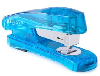 Rapesco See-Thru Half Strip Stapler Blue