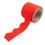 Border Rolls (Poster Paper) Scalloped Red
