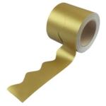 Border Rolls (Poster Paper) Scalloped Metallic Gold