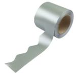 Border Rolls (Poster Paper) Scalloped Metallic Silver