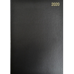 A5 Page/Day Diary 2020 Black