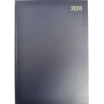 A5 Page/Day Diary 2020 Blue