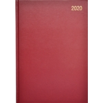 A5 Page/Day Diary 2020 Red