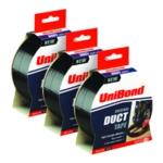 UniBond Tape 50mmx25m Black 3 for 2