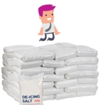 White Rock Salt - PALLET 42 bags (25 Kg Each)