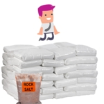 Brown Rock Salt - PALLET 42 bags (25Kg each)
