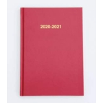 2020/21 ACADEMIC Diary A5 Week/View RED