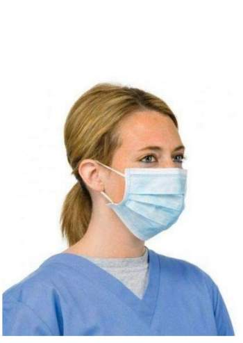3 Ply Disposable Face Masks Type IIR BS-EN14683:2019