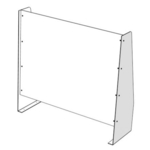 Large Protective Sneeze Screen 950mm W x 860mm H