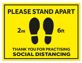 Social Distance Sign 300x400mm 2 Mtr