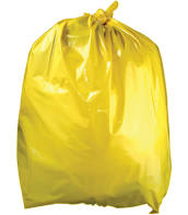 "18x28x39"" Waste Bags YELLOW Medium Duty"