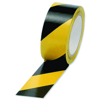 Hazard Tape 50mm x 33mtr Black/Yellow
