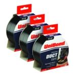 Unibond Duct Tape 50x25 Black 3for2