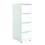 First 4 Drw Filing Cab White