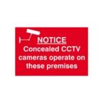 Spectrum Concealed CCTV Camera Sign