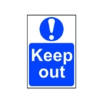 Spectrum Keep Out Sign 400x600mm