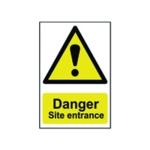 Spectrum Danger Site Entrance Sign