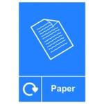 Spectrum Recycle Sign Paper SAV