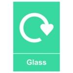 Spectrum Recycle Sign Glass SAV