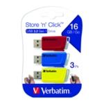 Verbatim Stre/Click USB 16GB Pk3