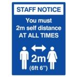 Covid Sign 2 Mtr Distance A3 400micron PVC