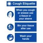 Covid Sign Cough Etiquette A3 400micron PVC