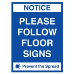 Covid Sign Follow Floor Signs A3 400micron PVC