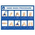 Covid Sign Hand Washing A3 400micron PVC
