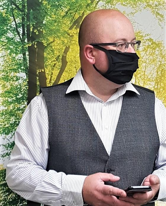 Silvadur Washable Anti Bac Face Mask SMALL BLACK
